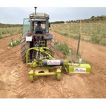 Rotovator interfilas