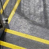 Cubierta antideslizante para rellanos de abrasivo grueso