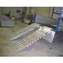 Rampas de carga de vehículos muy pesados con superficie antideslizante