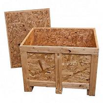 Caja contenedor de madera OSB