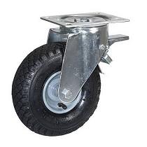Ruedas con núcleo en acero estampado y cubierta neumática con rodamientos
