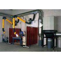 Sistema de filtración central para soldadura