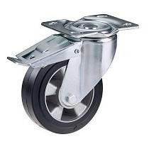 Ruedas con núcleo de aluminio y cubierta de goma elástica