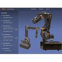 Engranajes, motores y elementos de conexión para robots industriales