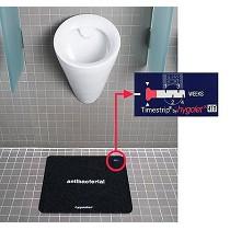 Alfombras desinfectantes para urinarios