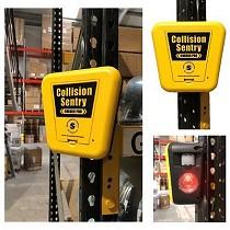 Sensor de obstáculos industrial con señal luminosa y acústica