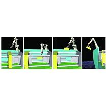 Robots de carga y descarga de máquinas de inyección de plástico