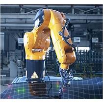 Robot para medición del espesor sin contacto