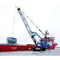 Grúas portuarias móviles