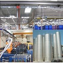 Instalaciones de alimentación de materiales en granza automáticas y centralizadas