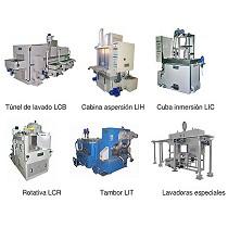 Lavadoras industriales para tratamientos y acabados superficiales