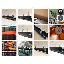 Elementos para paletizar y despaletizar en mesas transportadoras de botellas