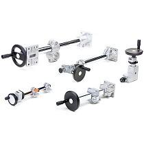 Abrazaderas modulares de aluminio-inoxidable y unidades lineales