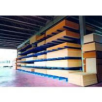 Estanterías industriales cantilever para tablero y madera