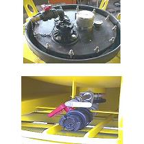 Contenedor cisterna a presión (IC) de 1100 litros, con revestimiento ebonita