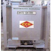 Contenedor cilíndrico, con calefacción eléctrica y aislamiento térmico