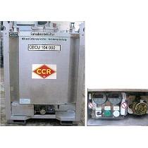Contenedor cilíndrico con calefacción eléctrica