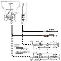 Cable de mando hidráulico