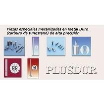 Piezas especiales mecanizadas en metal duro (carburo de tungsteno)