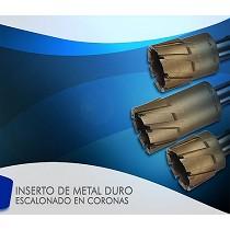 Inserto de metal duro escalonado en coronas