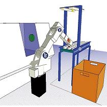 Sistema automático para carga y descarga de máquinas-herramienta