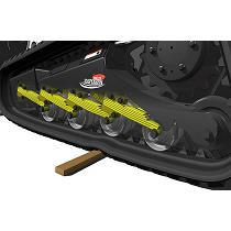Suspensión de rodillos de acero