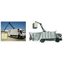 Crane on compactador / recolector