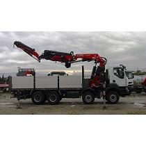 Crane on truck