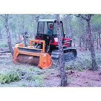 Trituradora forestal basculante