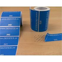 Etiquetas adhesivas de seguridad