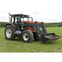Tractor accionado con biogás