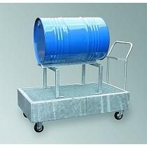Cubetos de retención móviles para barriles