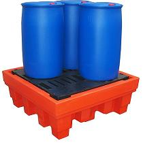 Cubetos de retención en PE-HD para barriles