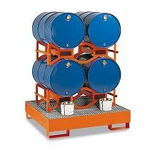 Soportes para barriles sin montantes