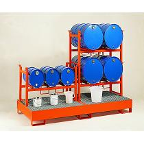 Soportes apilables para barriles para cubeto