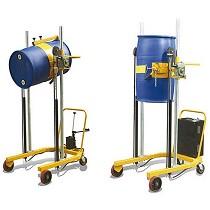 Elevador volteador de barriles de 200 l