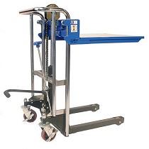 Elevador posicionador de material manual