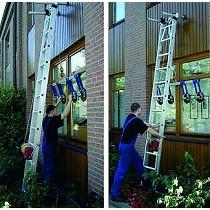 Escalera de montaje para vidrio
