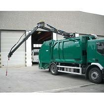 Cranes on compactor