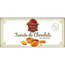Turrones de chocolate con almendras