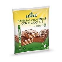 Barritas crujientes sin gluten con chocolate