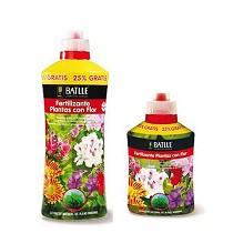 Fertilizante plantas con flor