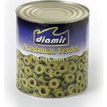 Aceitunas verdes laminadas