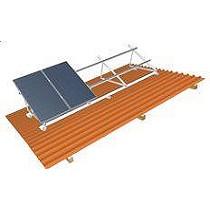 Sistemas de montaje en cubiertas a dos aguas sobre pilotes
