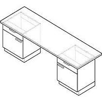 Mesas con mueble portante