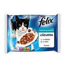 Sobres de comida para gatos