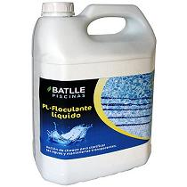 Botellas de floculante líquido