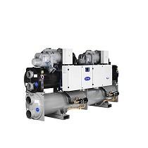 Enfriadoras de agua de condensación por agua con compresor de tornillo