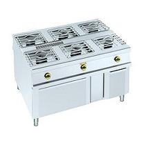 Cocinas centrales de 6 fuegos + horno