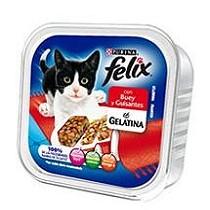 Tarrinas de buey y guisantes para gatos